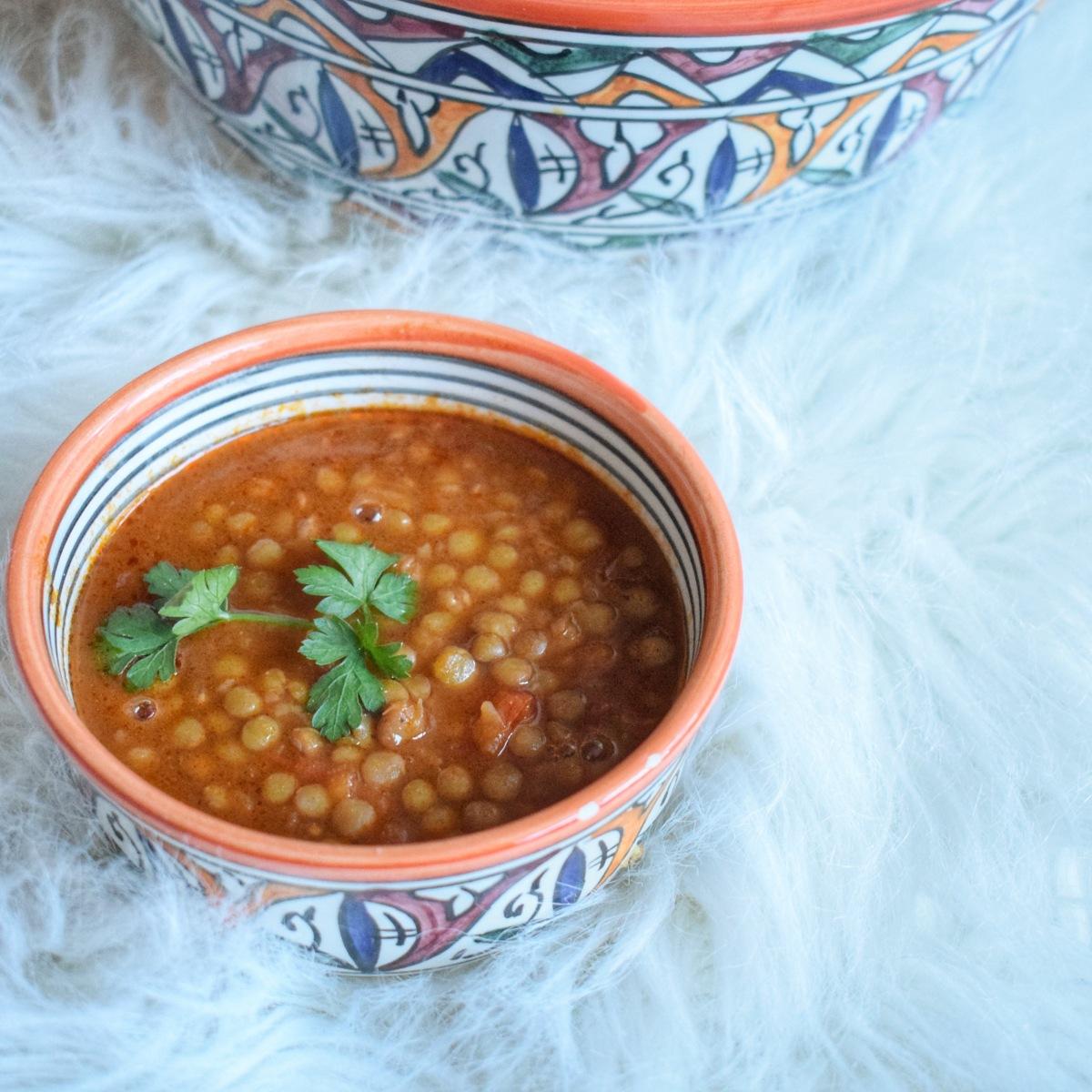 Lentilles blondes à la marocaine